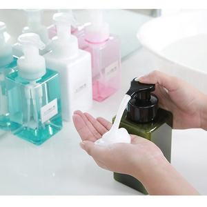 Square shape pump cosmetic package 250 450ml PETG foaming bottle plastic bottle for Skin care