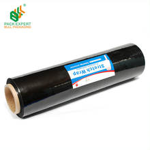 LLDPE Black Stretch Wrap Film Plastic Film Roll
