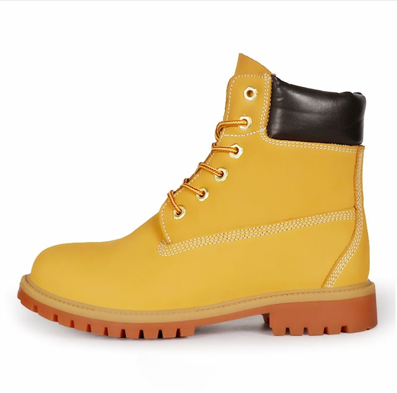 High Ankle Antistatic Waterproof Anti-skid Safety Boots Steel Toe Cap Alkali Resistant Winter Working Shoes with Polished Finish