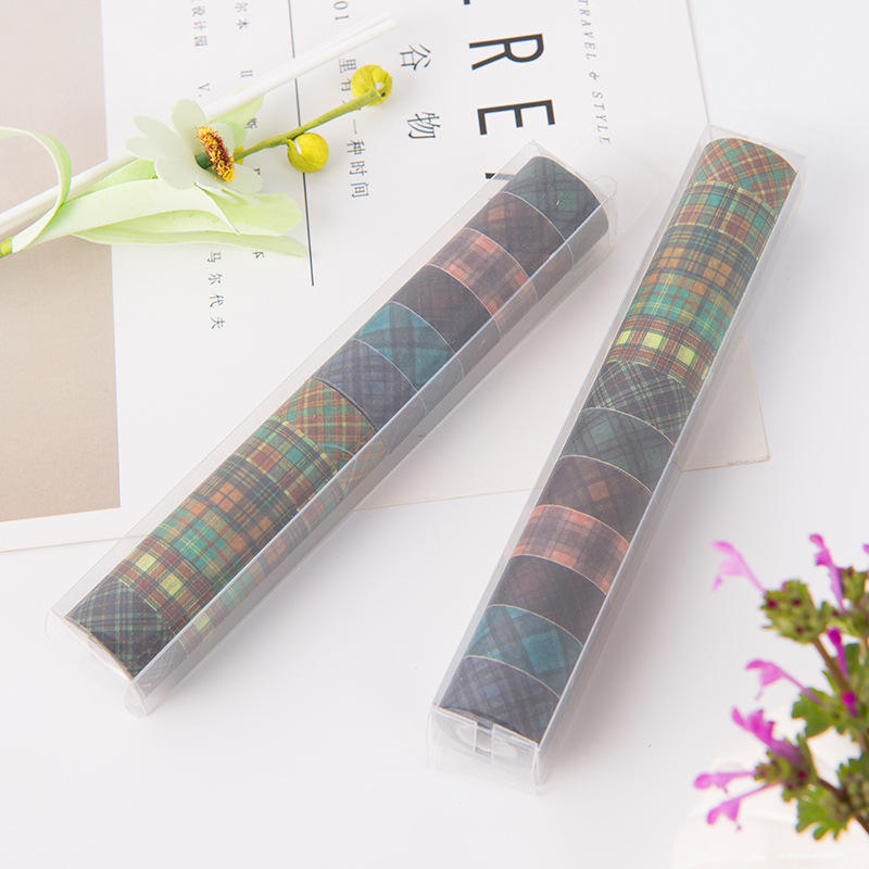 12mm ancho <span class=keywords><strong>colores</strong></span> washi DIY al por mayor 12 rollos/set planificador <span class=keywords><strong>cinta</strong></span> decorativa