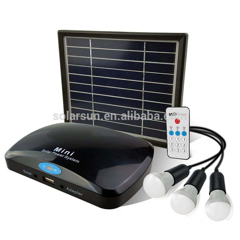 Outdoor Solar Home DC Lighting Kits Mini 3 W Sistem Tenaga Surya