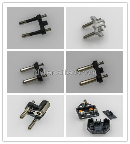 EU VDE plug inserts/Middle East insert plug schuko insert plugs hollow solid pins