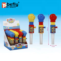 Bulk plastic very cheap toys with candy tube