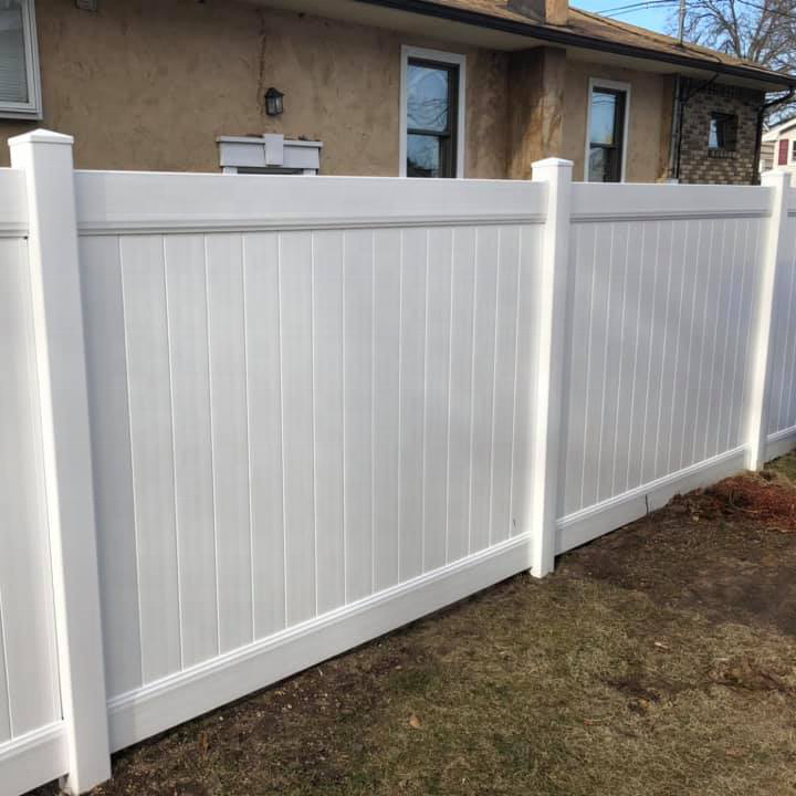 FenTech 100% Virgin Material 6x8ft White Vinyl Plastic Privacy Fence wall Panels,PVC Fence Series