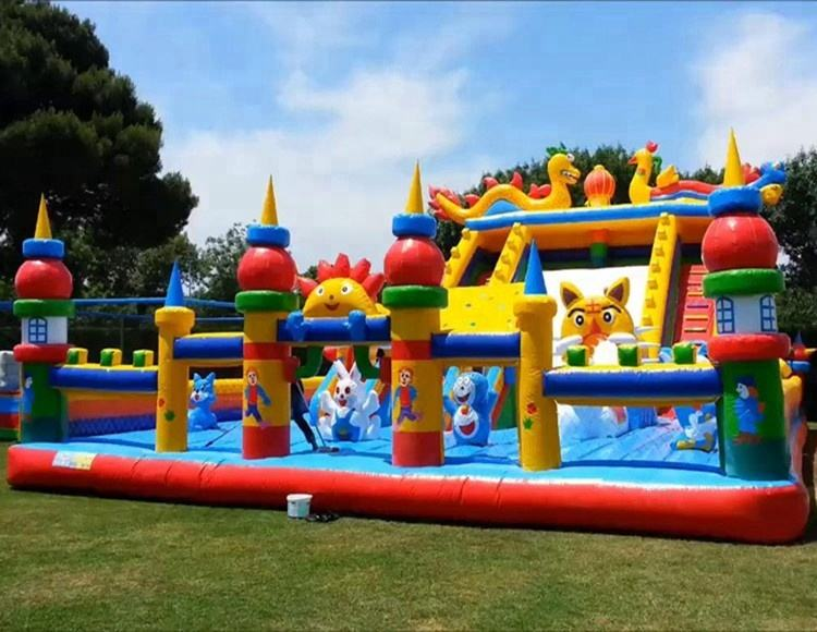 Best sale commercial inflate amusement fun park children inflatable bouncing world