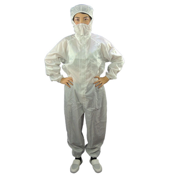 Hot Sale Grid Female Cotton Anti Static Cleanroom Esd Disposable Smock For Electronic Industrial