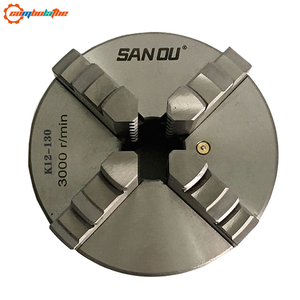 SANOU high quality of 4 jaw self-centering lathe chuck diameter 130mm for small lathe