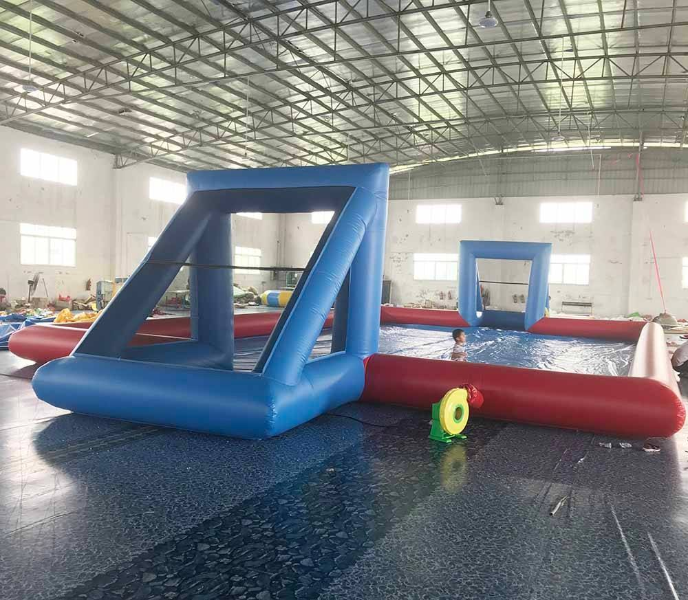 Soap Inflatable Water Soccer Field For Football Game
