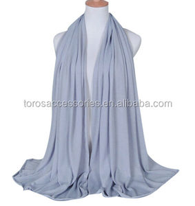 TOROS Wholesale Muslim Women Head Wrap Solid Color Shawl Long Hijab Muslim Plain Hijab Scarf Dress