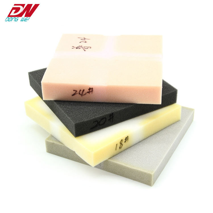 Hot sale colored cheap memory foam bed sponge mattress