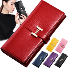 2019 Genuine leather clutches wallet crocodile skin ladies purse leather wallet women
