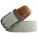 China Factory Suppliers Mens Comfort White Pin Buckle Braided Belt