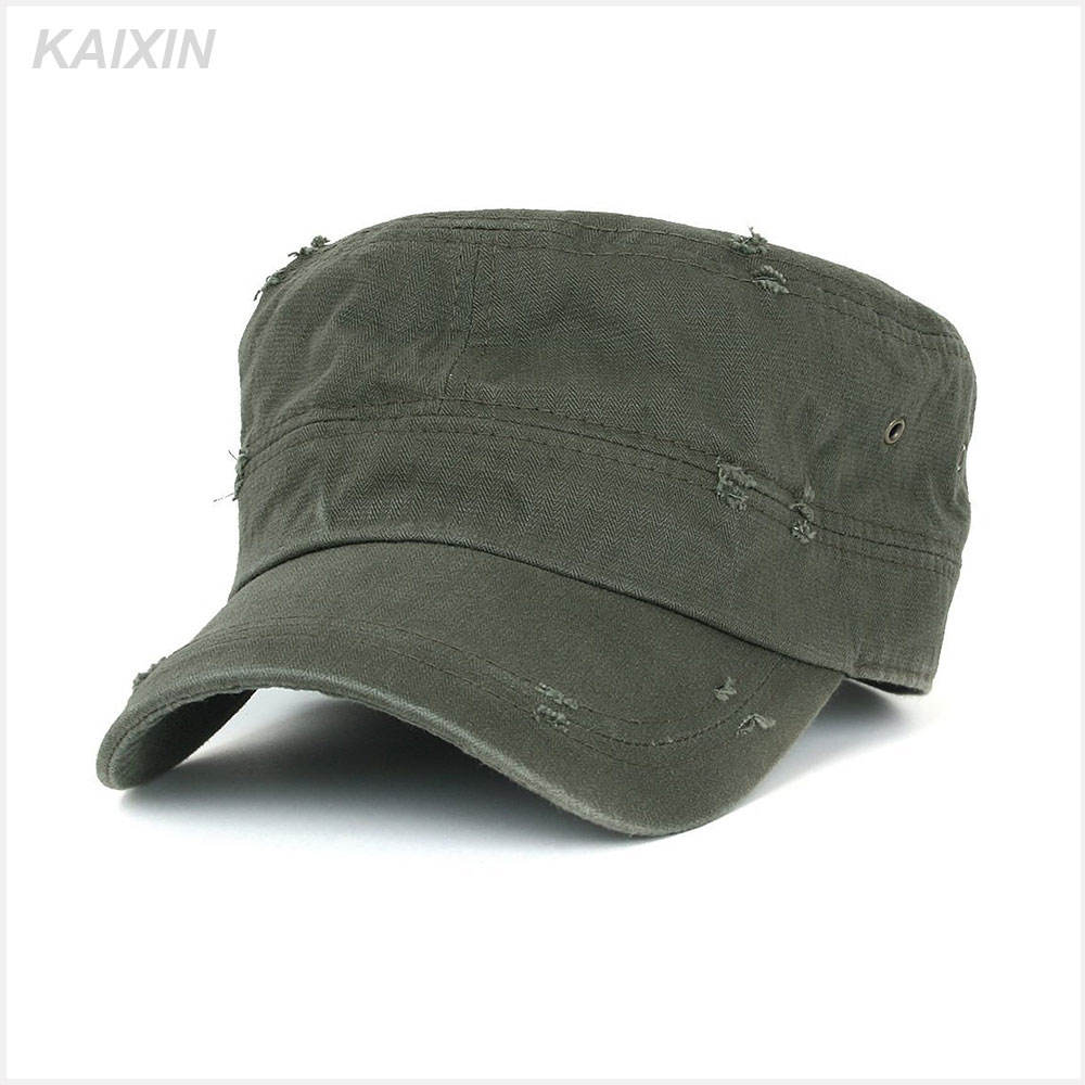 Green color blank military cap army cap