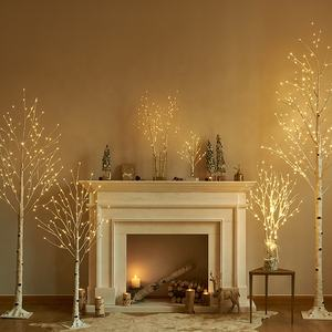 Led Kunstmatige Verlichte Witte Berk Twig Tafelblad 18IN 24 Led Kleine Boom Lights Battery Operated Decoratie