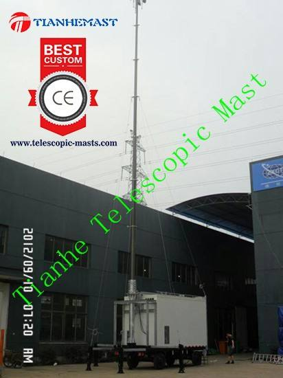 18m mobiele antenne voor mobiele communicatie <span class=keywords><strong>toren</strong></span> <span class=keywords><strong>telescopische</strong></span> mast