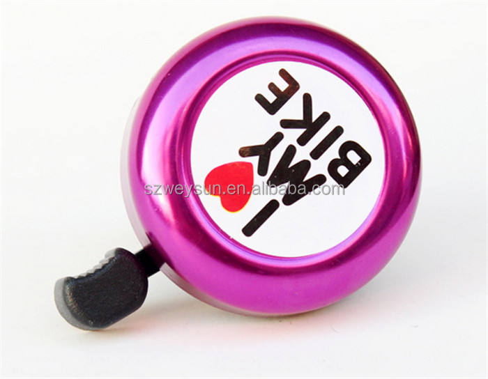 Bicicleta Bell I love my bike impreso claro sonido cute bike Horn alarma advertencia del anillo de la campana