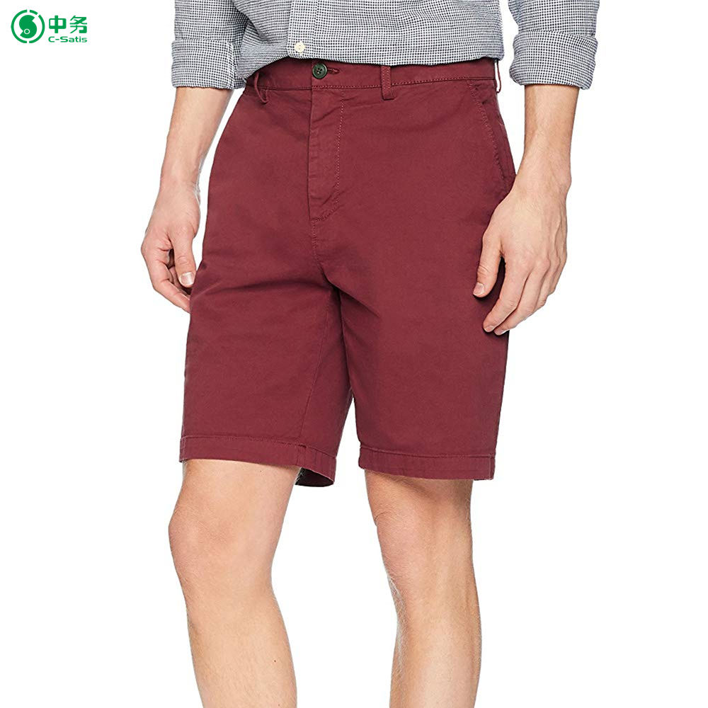 Men's Flat-Front Stretch Chino Short