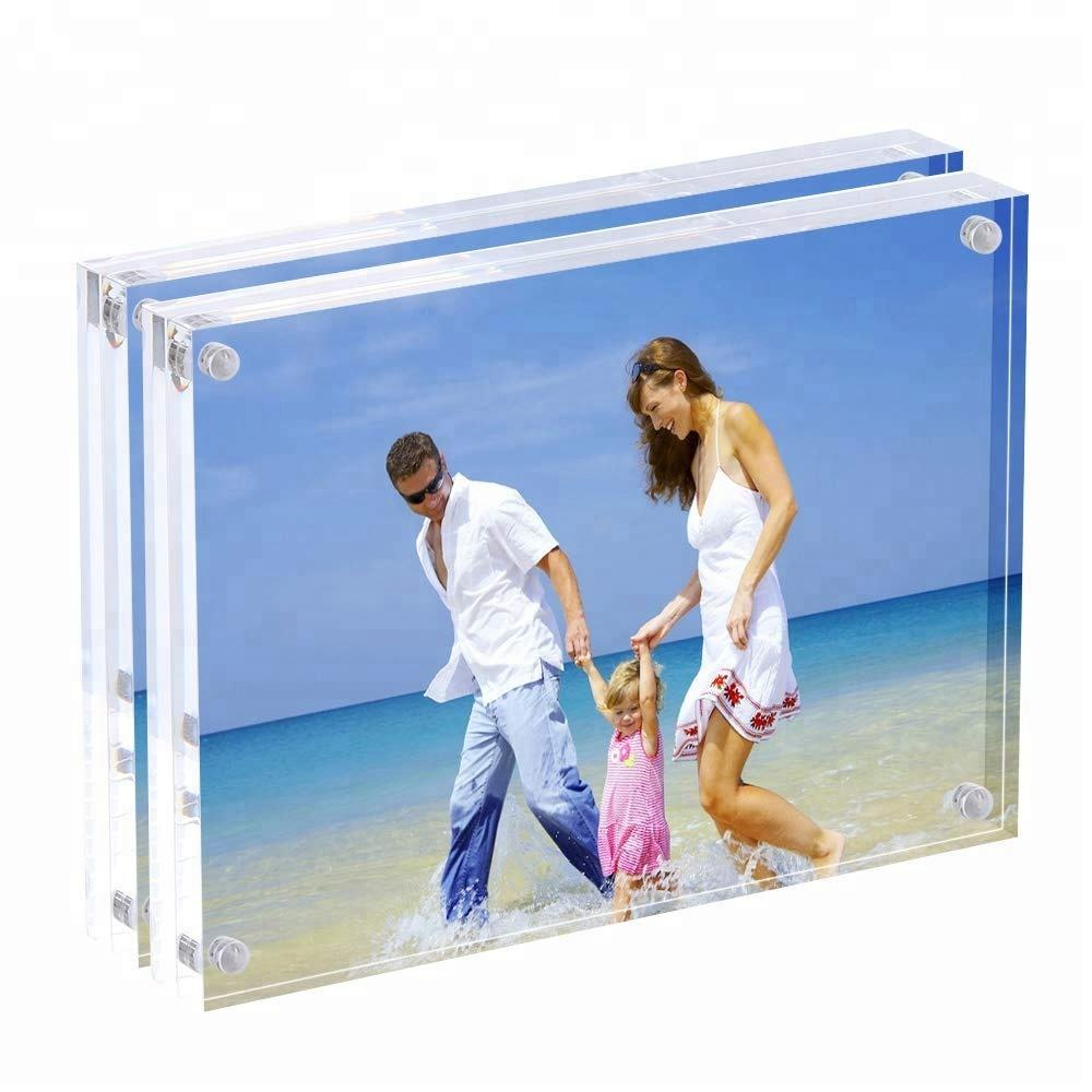 Transparant Clear <span class=keywords><strong>4X6</strong></span> Perspex Fotolijst <span class=keywords><strong>Acryl</strong></span> Fotolijst Met Schroeven Magnetische Voor Home Decor