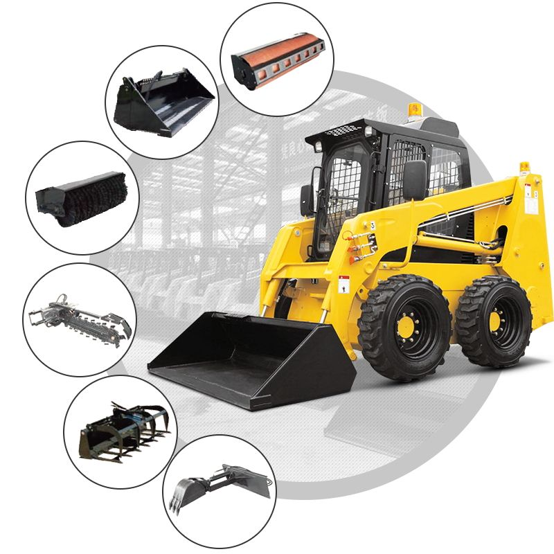 China Best Cheap Electric Mini Skid Steer Loader Wheel With Attachment Price For Sale