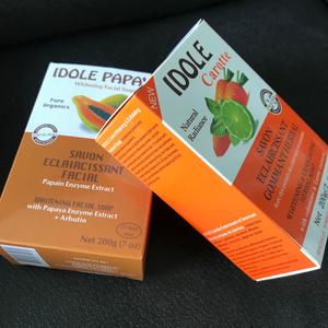 Famous idole papaya carrot whitening bath idole soap with papaya enzyme extract