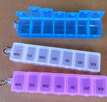 Random Color Send!!! 7 Days Weekly Tablet Pill Medicine Box Holder Storage Organizer Container Case Pill Box Hot sale