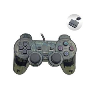 7 kleuren Crystal Wired Controller voor PS2 voor Sony Playstation 2 Joypad Gamepad Controller Clear Nieuwe