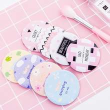 Custom Print Logo Cute Acrylic Pocket Round Mini Make Up Hand Mirror For Makeup Small Vanity Mirror