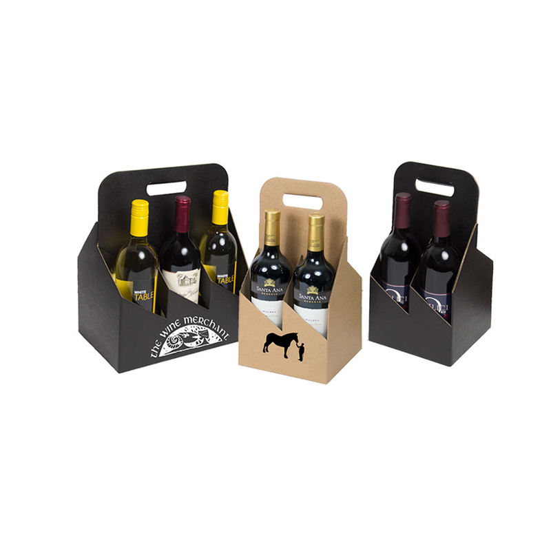 Corrugated beer carton box recycled foldable wine bottle carrier box