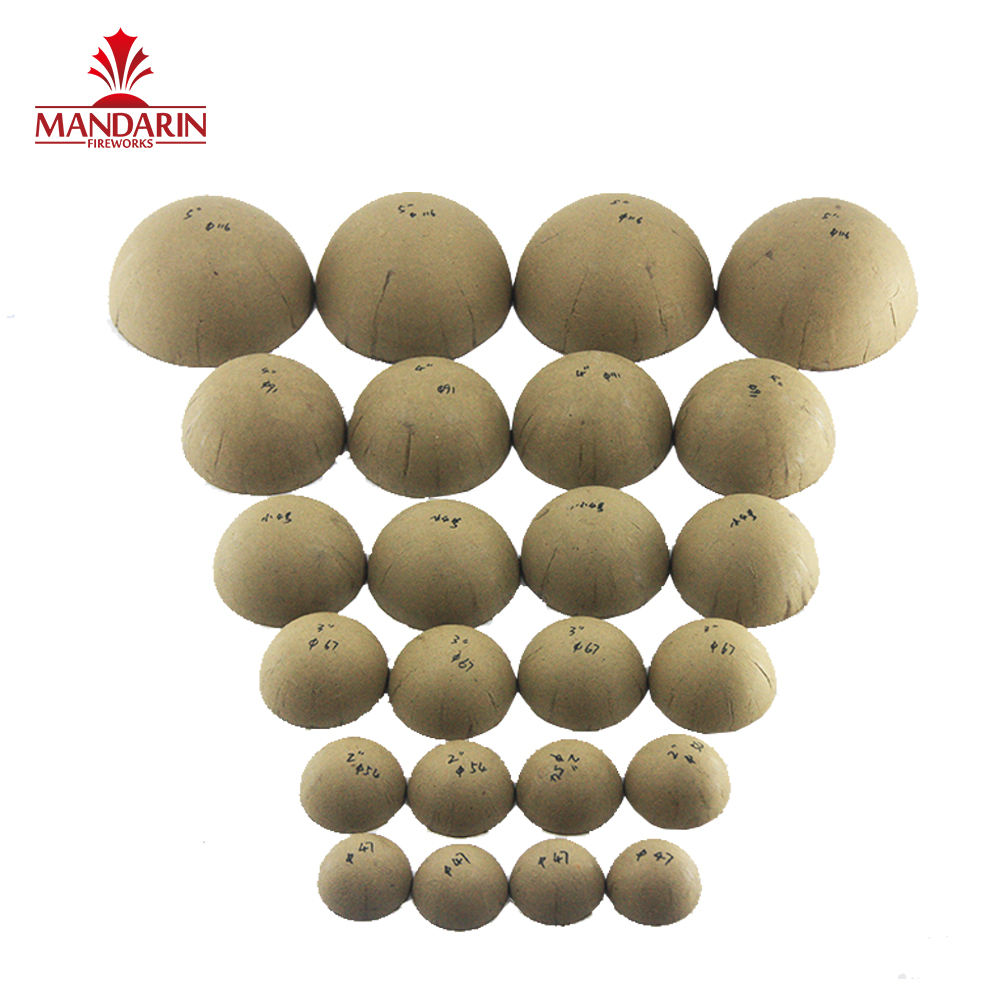 "Free Sample Fast delivery1'' 2"" 3"" 4"" 5"" 6'' 7'' 8'' 10'' 12'' 16'' 24'' inch round fireworks paired empty shell from Liuyang"