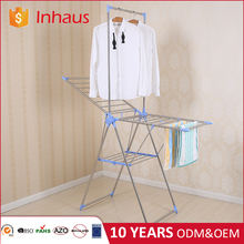 Wing shape stainless steel laundry drier folding portable hanging bathroom detachable clothes rack for clothes