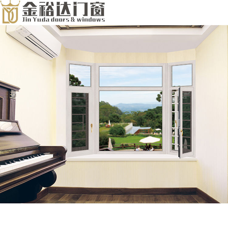 Chinese door and window manufacturer producing the aluminum alloy glass doors and soundproof glass windows for villa project