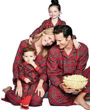 MY-040 2018 New fashion family outfits for christmas red plaid pajamas for adults and kids boutique outfits wholesale