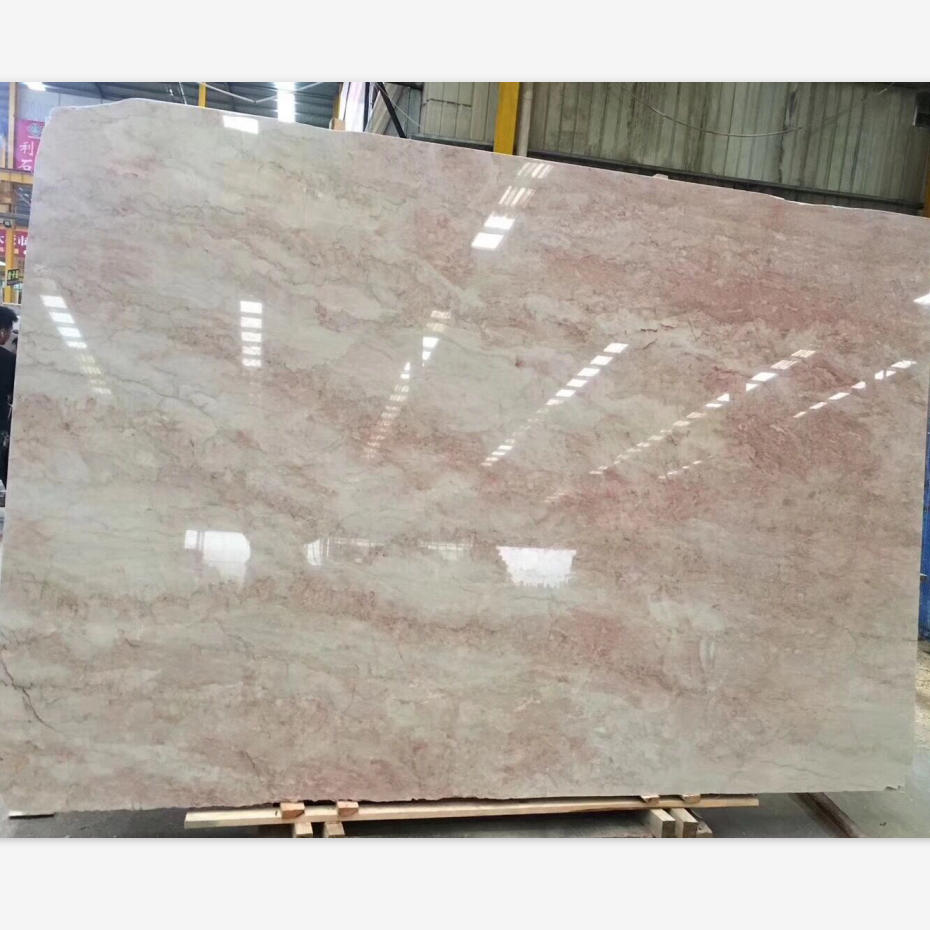 Hot Sell Tea Rose Marble Slabs For Bathroom Design