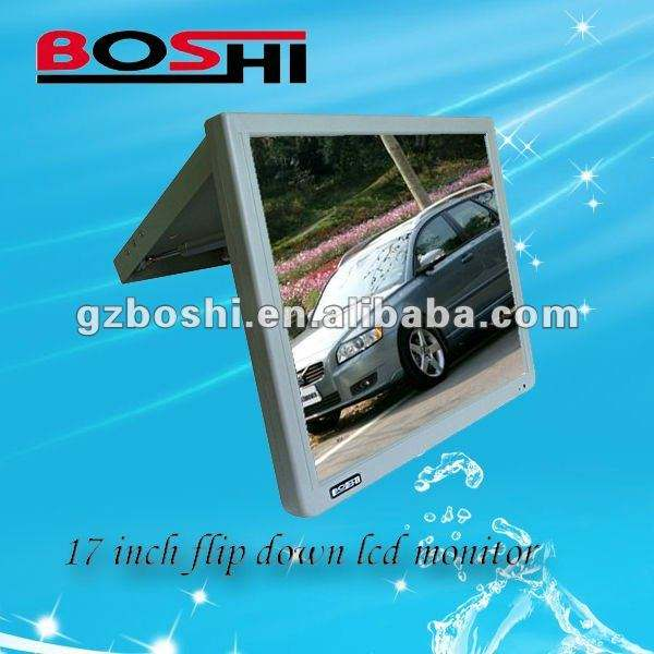 17 polegada tela digital flip down monitor lcd mercedes c300 gps do carro