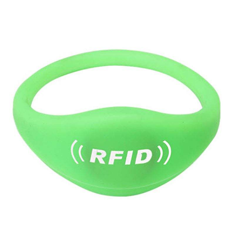 Verstelbare <span class=keywords><strong>Passieve</strong></span> Rfid Polsband Siliconen Rfid Polsband/Armband Nfc Waterdichte Smart Rfid Band