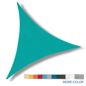 2018 High Quality 16' x 16' x 16' Canvas Sun Shade in Turquoise and Plastic Triangle Outdoor Shade Sail