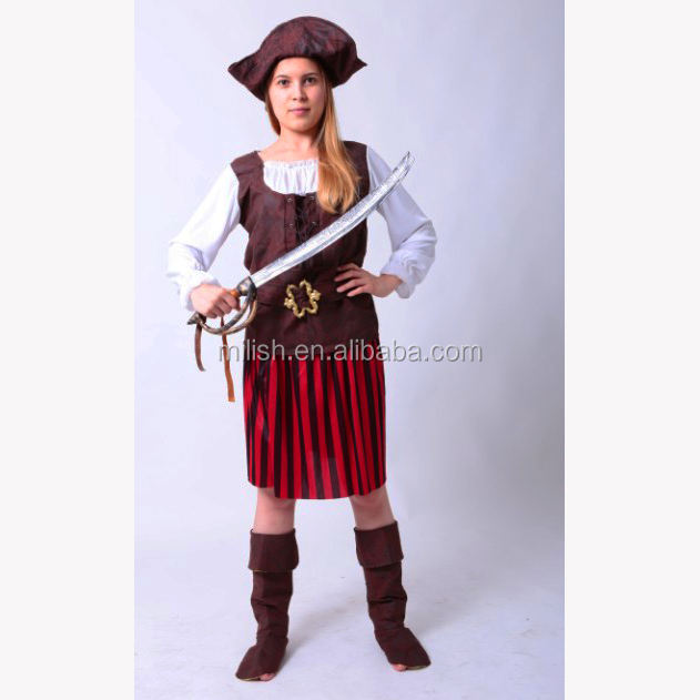 MAA-98 Party Carnival sexy caribbean female pirate costume women