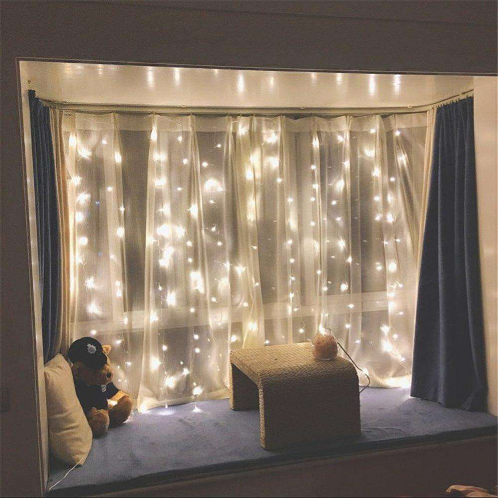 Amazon 2018 Top Sale 1M 2M 3M WaterProof 8 Models Adjustable LED Curtain Light For Decorate Indoor Lighting Patio Christmas