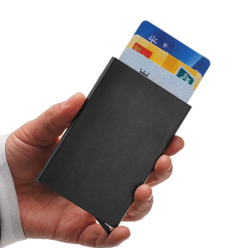 Portefeuilles Credit Kaarthouder Automatische Kaart Sets Gift Set Id Pocket Credit Card Wallet Met Rfid Blocking
