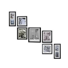 custom multi-size gallery wall black wood collage picture frame set
