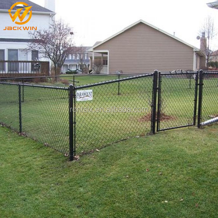 3M PVC Coated Cheap Mesh Fencing With Steel Chain Links