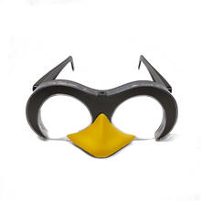 Personalized custom penguin shaped flashing LED glasses for Party