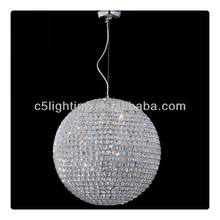 Big Circle Ball Crystal Cover Contemporary Rectangular Chandelier
