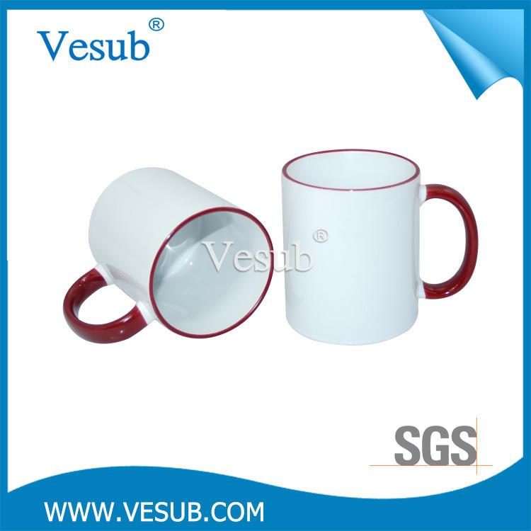Nuevo diseño 11 OZ porcelana taza de la sublimación para el anuncio y 3d imagen exquisita