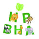 BA108 China Wholesale Custom Kids Favors Decoration Set Party Jungle Theme Happy Birthday Banner
