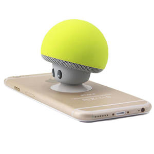 Outdoor Cute Mini Portable bocina bluetooth hongo mushroom speaker with Suction Cup