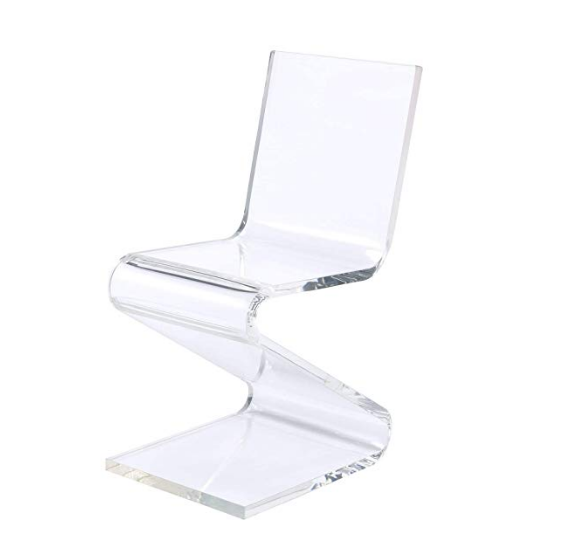 Acrylique Lucite Z Chaise Acrylique Zigzag Chaise; Coloré Acrylique Chaise Z