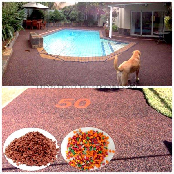 Uv resistência e Anti envelhecimento ao ar livre piscina telha de borracha telha de borracha borda FN-E-15091401