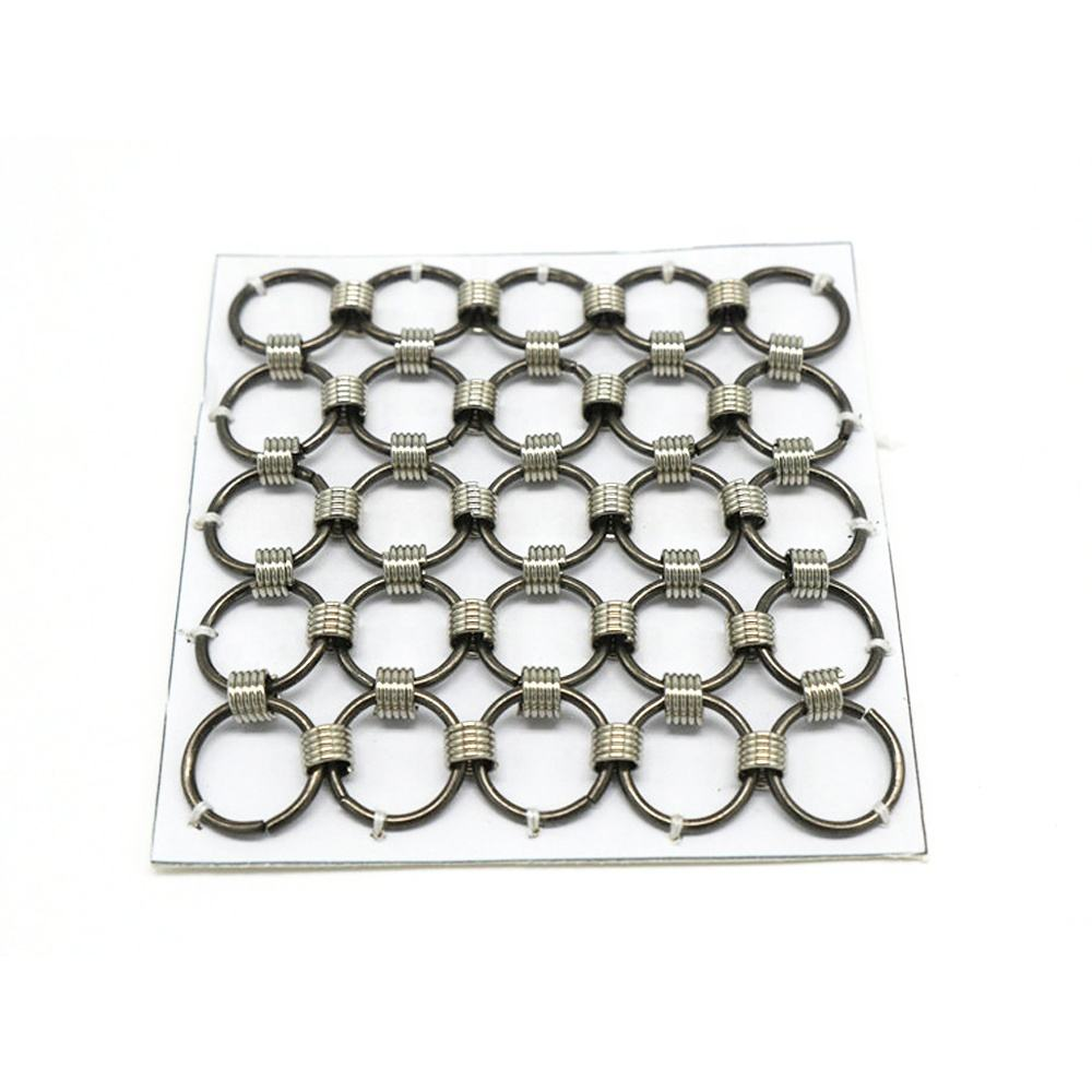 Stainless Steel Welded Ring Decorative Mesh / Metal Ring Curtain