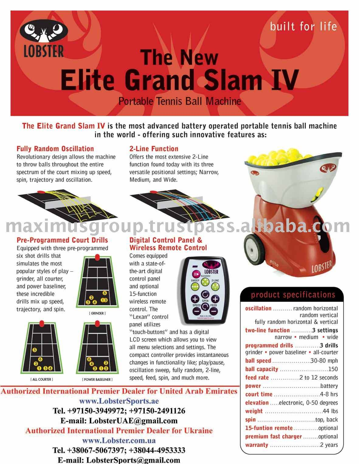 Lobster Elite Grand Iv Tennis Ball Machine Buy Tennis Ball Machines For Sale Product On Alibaba Com